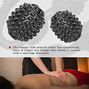 Muscle Roller, Trigger Point Muscle Roller for Calves, Leg, Arms, Tennis Elbow and Golfer Elbow, Foam Roller Deep Massage Tool for Relieve Muscle Soreness, Stiffness and Tight Muscles