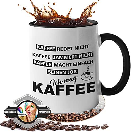 Tasse mit Spruch - Kaffee jammert Nicht - beidseitig Bedruckt - Kaffeetasse - lustig - Arbeit - Büro - Geschenk