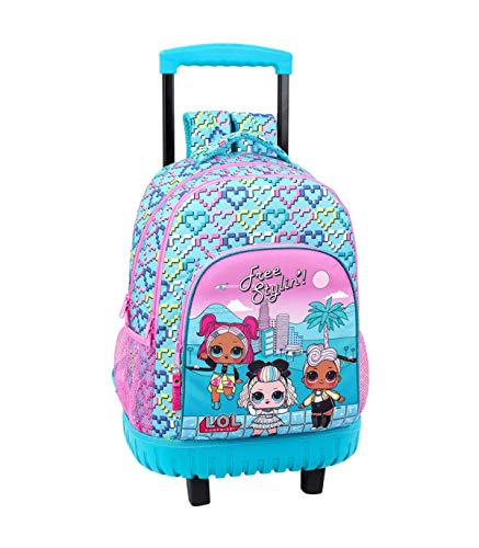 LOL Surprise Hearts Mochila Grande con Ruedas, Carro Fijo, Multicolor, Trolley