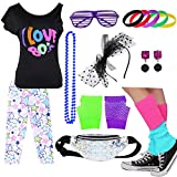 Kids 1980s Accessories I Love The 80's T-Shirt Outfit with Fanny Pack (8-10, 02)