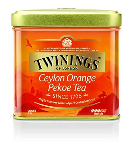 Twinings Ceylon Orange Pekoe loser Tee Dose 100g, Schwarztee, Das erfrischende Aroma charakterisiert diesen Tee. Black Tea 6er Pack (6 x 100 g)