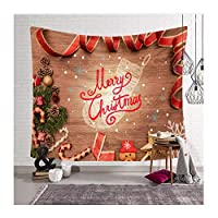 """クリスマスタペストリー壁掛け暖炉クリスマスツリーストッキングギフト壁タペストリークリスマス装飾小道具ホームベッドルームリビングルーム寮フェスティバルの装飾-DHG-11_37.4x28.7 """""""
