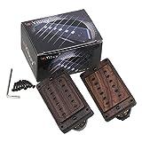 Yibuy 50/52mm Rose Wood Electric Guitar Humbucker Pickups & Black Screws &...