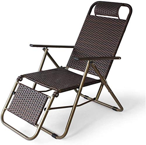 TataYang Klappstuhl Lehnstuhl Siesta Stuhl Sommer verstellbar Verstellbarer Sessel Stuhl faul Liegestuhl Gartenstuhl Gartenstuhl Sonnenliegestühle,Brown