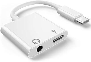 Naropox Adaptador USB C a Jack 3.5mm, Audio Carga 2 en 1 Cable Tipo C a Audio 3.5mm Auriculares para iPad Pro 2018, Google Pixel 3/XL/2, Huawei P30 Pro P20 Mate 30 20, Xiaomi 9 8 6 Mix 2S, Smartisan Pro 2/3 y más