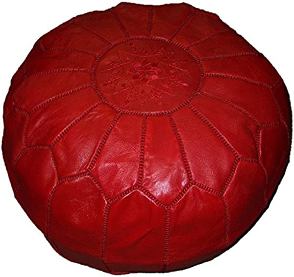 Moroccan Hand Made Pouf Leather Luxury Ottomans Footstools Cover High Quality Satifaction Guarranteed