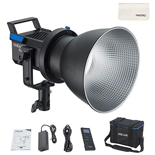 Sokani X60 80W LED-Studioleuchte mit Bowens-Halterung für Digitale Spiegelreflexkameras CRI 96+ TLCI 95+ 5600K LED-Videoleuchte mit 2,4-G-Fernbedienung - Tageslicht