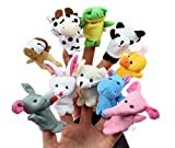 Lot de 10marionnettes au doigt Cheri en forme d'animaux, pour enfants