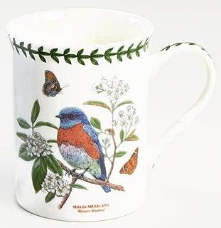 PORTMEIRION Botanic Garden Birds Coffee Tea Mug Western Bluebird