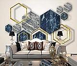 Papel Pintado Pared 3D Fotomurales Marmoleado Geométrico Abstracto Mural Pared Pintado Papel Tapiz Salón Dormitorio Tv Fondo Decoración De Pared 200x140cm