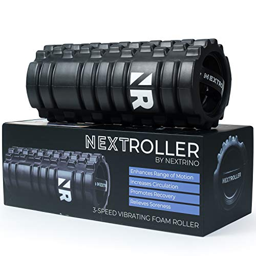 Nextrino Vibrating Foam Roller for Physical Therapy & Exercise - Deep Tissue...