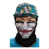 3D Balaclava Moto Pasamontañas Calavera Multifuncional Bufanda Prueba de Viento Microfibra Elástico Pañuelos Cabeza Bandana Esquí Ciclismo Bici Máscara Facial Protección UV (A #2)
