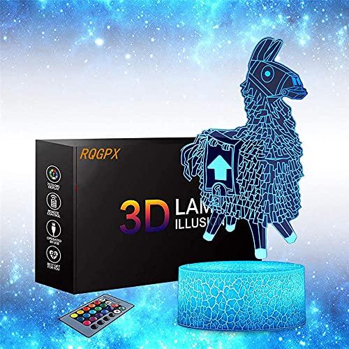 Llama - Lámpara de ilusión 3D para adolescentes, regalos perfectos para niños y decoración de habitación Darth Vader