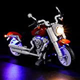 Vonado Led Lighting Kit for 10269 Harley-Davidson Building Blocks, Harley Motorcycle Building Brick Model Light Set for Gifts, Building Block Toy Light Kit for Party Birthday and Holiday(Lights Only)