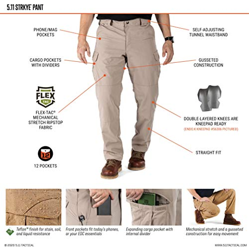 5.11 Stryke Pantalon Homme, Beige (Kaki), FR : W32/L30 (Taille Fabricant : W32/L30)