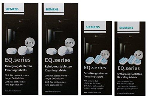 SIEMENS TZ80001 20 Reinigungstabletten + 6 Entkalkungstabletten für EQ Series