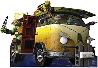 5 ft. 11 in. TMNT Teenage Mutant Ninja Turtles Party Wagon Standee Standup Photo Booth Prop Background Backdrop Party Decoration Decor Scene Setter Cardboard Cutout