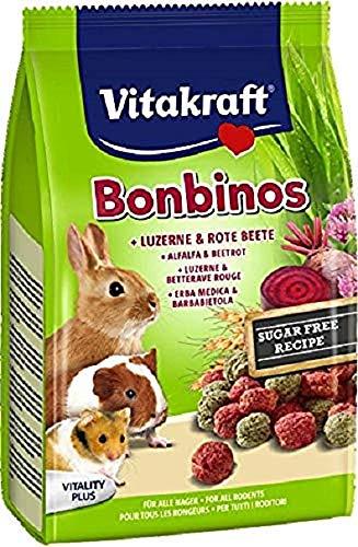 Vitakraft Bonbino'S Betterave Rojo y Luzerne Todos Roedores, 40 g
