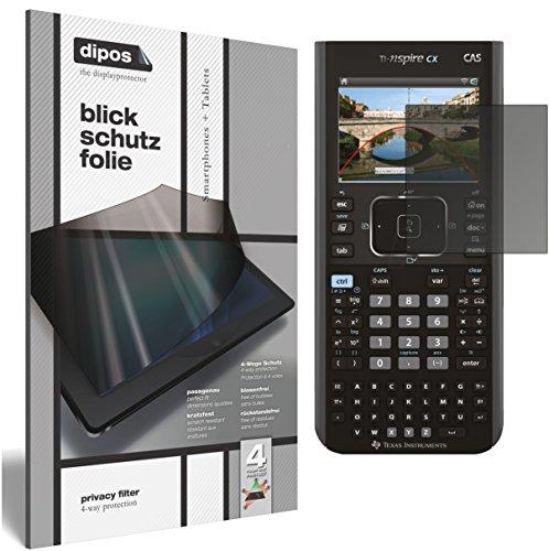 dipos I Blickschutzfolie matt kompatibel mit Texas Instruments TI Nspire CX Taschenrechner Sichtschutz-Folie Bildschirm-Schutzfolie Privacy-Filter