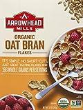 Arrowhead Mills Organic Cereal Box, Oat Bran Flakes, 12 Oz