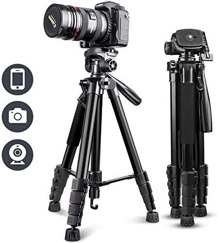 UBeesize 67 Camera Tripod with Travel Bag Cell Phone Tripod with Bluetooth Remote and Phone product image