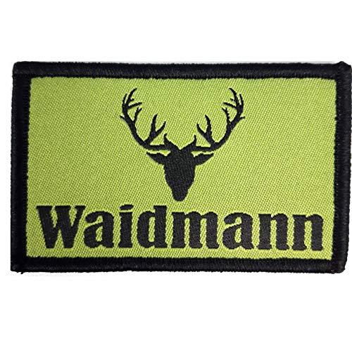 1 x Waidmann Jäger Hirsch Aufnäher Patch Outdoor Jagen Jagt Hirsche Waidmanns Heil Wald mit Klettverschluss