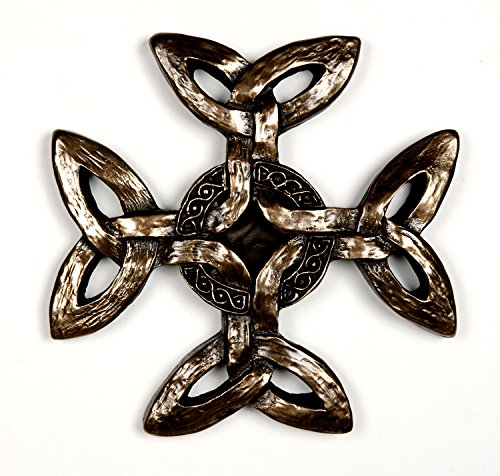 Wild Goose Studios Celtic Creation Cross - Bronze Coated Resin Cast