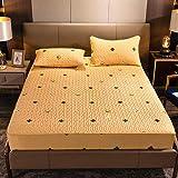 CYYyang Protector de colchón de bambú Funda de colchón y Ajustable Una Sola Pieza de sábana Gruesa-7_200 * 220cm