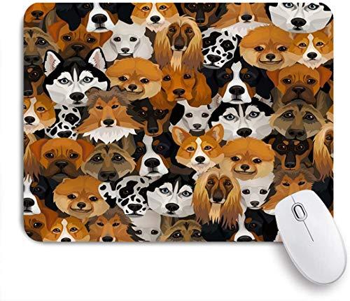 Benutzerdefiniertes Büro Mauspad,Berner Hunde Verschiedene Rassen Muster Pudeltiere Wildlife Mountain Boxer Corgi Welpe Afghan Funny,Anti-slip Rubber Base Gaming Mouse Pad Mat
