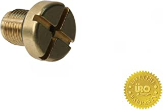 URO Parts 17111712788PRM Coolant Tank Bleeder Screw, Brass vs OEM Plastic