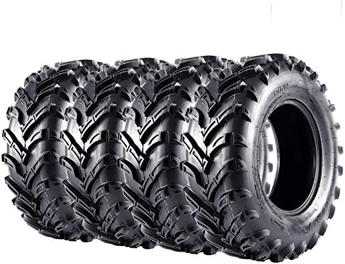 VANACC ATV Tires 25x8-12 Front & 25x10-12 Rear UTV Tire 25x8x12 25x10x12, 6PR, Set of 4