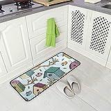 Kitchen Rugs Birds and Starling Houses Design Non-Slip Soft Kitchen Mats Bath Rug Runner Doormats Carpet for Home Decor, 39' X 20'