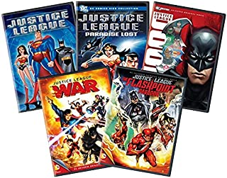 Ultimate Justice League Animated 5-Movie DVD Collection: The Flashpoint Paradox / War / Doom / Secret Origins / Paradise Lost