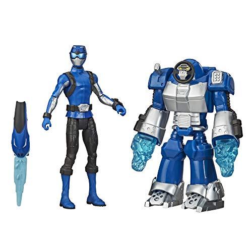 Power Rangers Beast Morphers Blue Ranger and Smash Beastbot - Figura de acción de 6 Pulgadas Inspirada en el Programa de televisión Power Rangers