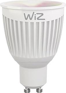 Slimme ledlamp van WiZ; peervorm GU10, wit en gekleurd, wifi-schakelbaar. Dimbaar; 64.000 witschakeringen + 16 miljoen kle...
