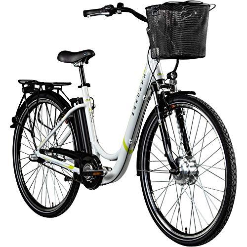 "Zündapp E Damenrad 700c E-Bike Pedelec Z510 Citybike Elektrofahrrad 28"" Fahrrad (weiß/grün, 48 cm)"