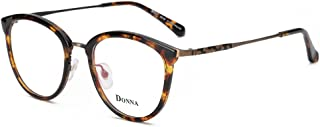 DONNA Clear Lens Women Glasses Samll Round Cateye Frame...