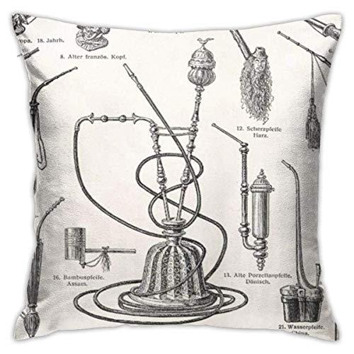 Throw Pillow Covers Kissenbezüge Retro Vintage Tabakpfeifen Shisha Steampunk Smoke