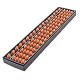 Flexzion Plástico ábaco Soroban Aritmética Cálculo chico es el Módulo 17 Dígitos Rods 5 cuentas de madera de plástico de conteo Oriental calculadora portátil 1