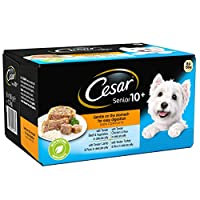 Senior range is a high quality dog food made using succulent recipes your dog will love This senior wet dog food is specially crafted for his needs, being gentle on the stomach for easy digestion Cesar wet dog food in jelly will have your canine frie...