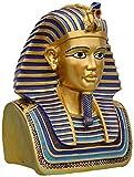 Estatuas Adornos De Jardín Busto De Tutankamón Egipcio Al Aire Libre con Máscara De Oro Réplica Vintage Resina Decorativa Y Decoración del Hogar Estatuilla