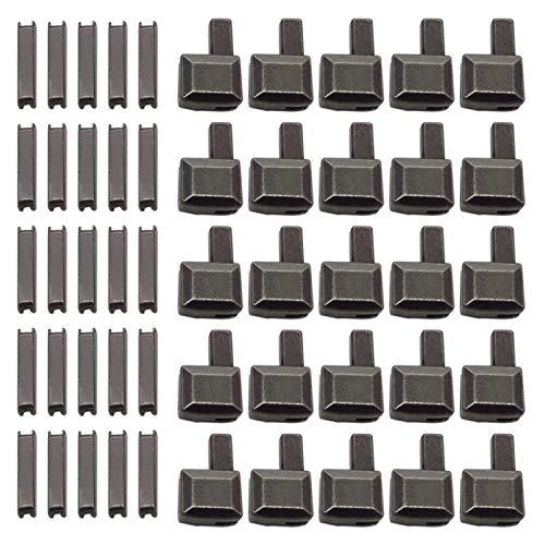 Warmsky 20 Sets #10 Metal Zipper Latch Slider Retainer Insertion Pin Zipper Bottom Zipper Stopper Zipper Repair Kit for Zipper Repair Zipper Repair Kit (Dark Gray)
