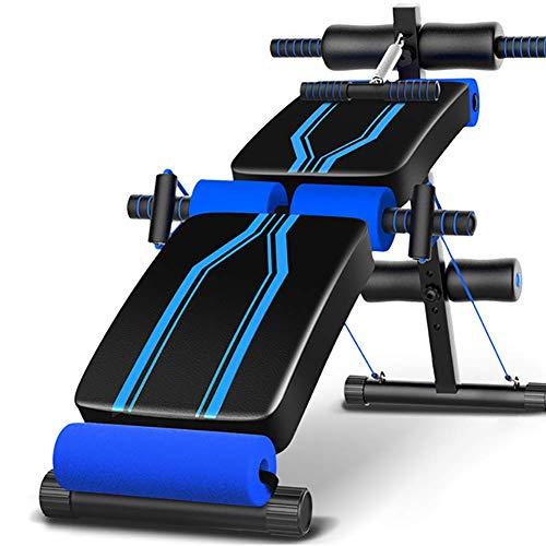 YAJIAN Equipo de fitness de Sit-Ups, Músculos abdominales plegables Silla de peso,...