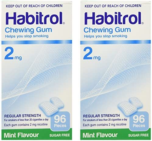 Habitrol 4年保証 Nicotine Gum 2 Boxes 2mg 上等 by Pieces Mint 192