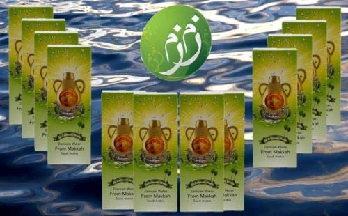 Zamzam Drinking Water 16.5 fl.oz. Pack of 12 - From Mecca Saudi Arabia - ماء زمزم من مكة المكرمة 12 عبوة