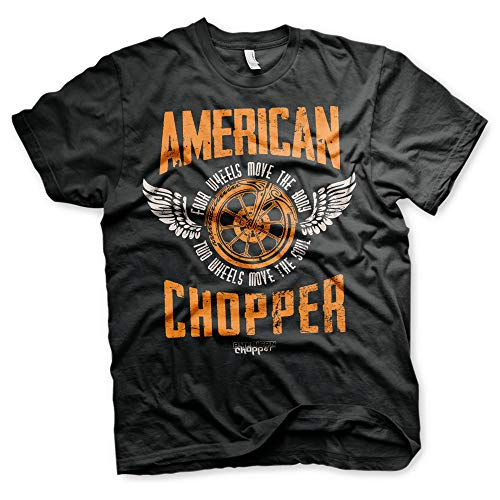 American Chopper due ruote arancione County Choppers nero uomo t-shirt Nero M