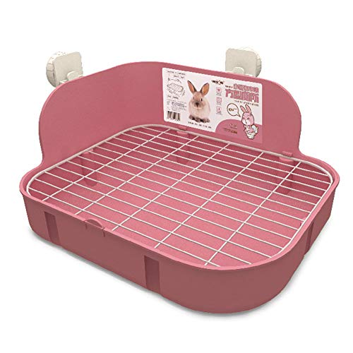 SunshineBio Rabbit Litter Box Toilet for Small Animal Bunny Rabbits Guinea Pig Galesaur Ferrets...