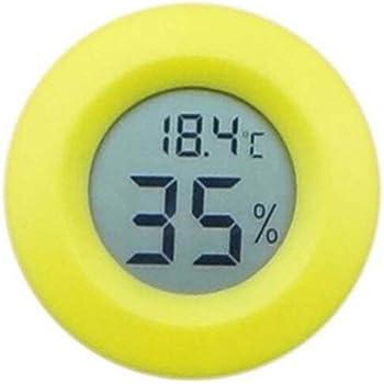 Greatangle Kleine LCD Digital Thermometer Hygrometer Eidechse Schildkr/öte Frosch Netz Box Kletterbox Thermometer Elektronisches Hygrometer schwarz