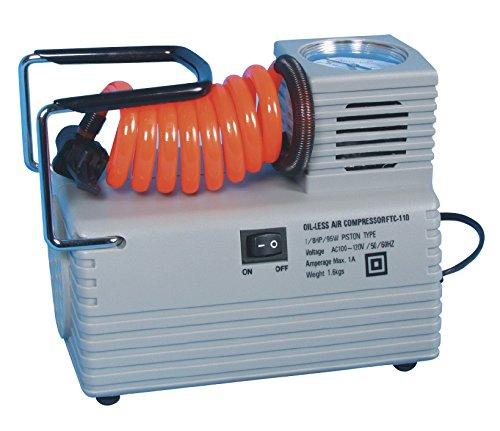 Atipick–Compressore elettrico 1/8HP AC220V. Con 1ago di GGW, 2raccords conica, Adattatore filettato fine e spessa