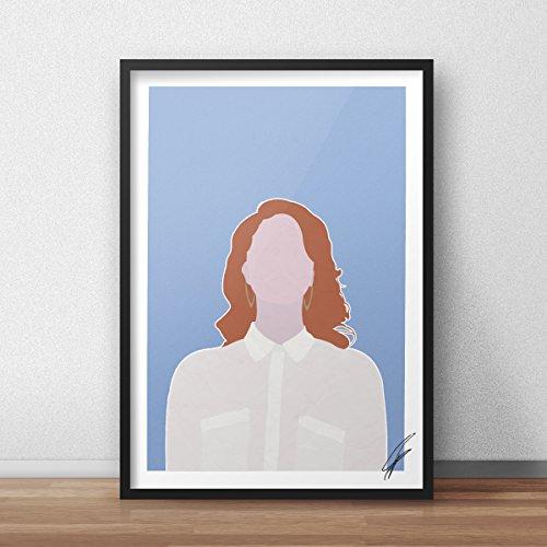 Von Lana Del Rey inspirierte Illustration.